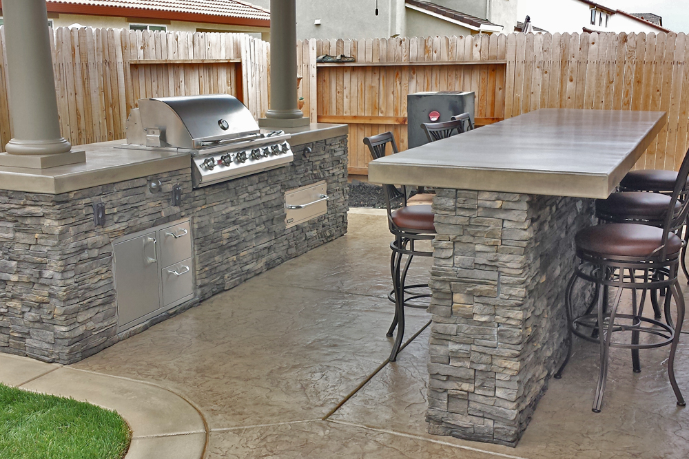 Custom Outdoor Kitchen With Patio Cover Sacramento Custom Image Hardscape
