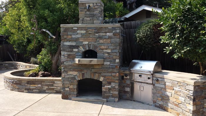 custom pizza oven outdoor kitchen design sacramento ca