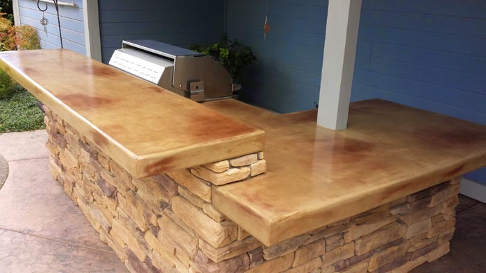Concrete Countertop Outdoor Kitchens In Sacramento Ca