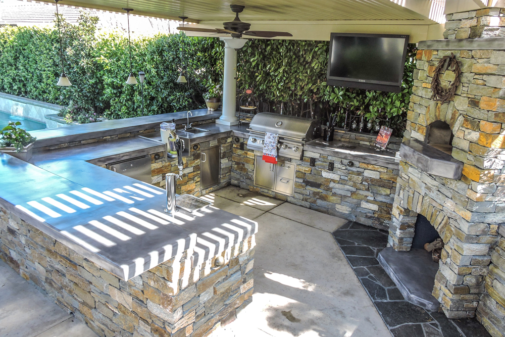 Outdoor kitchen sacramento custom outdoor kitchens for Outdoor kitchen blueprints