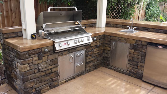 Outdoor Kitchen - BBQ Island Sacramento