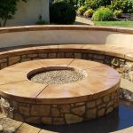 Gas Masonry Outdoor Fire Pit Custom Designed Rocklin