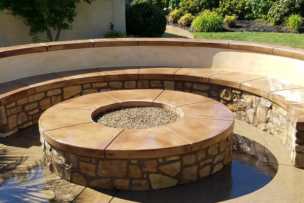 Natural Gas Fire Pit Custom Designed And Built In Rocklin