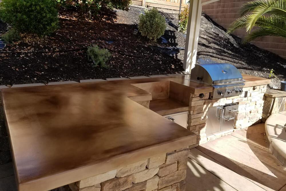 Custom Stone Outdoor Kitchen Build in Rocklin