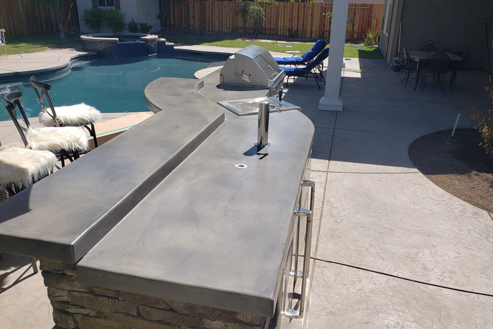 Manufactured Stone Custom Outdoor Kitchen Designed in Davis