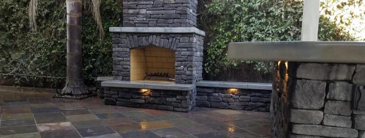 Traditional Wood Burning Outdoor Fireplace Build Downtown Sacramento