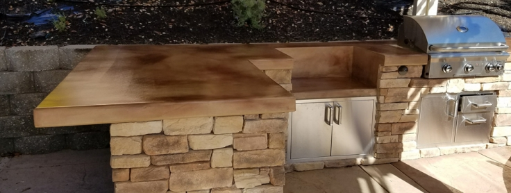 Custom Stone Outdoor Kitchen Build Designed in Rocklin